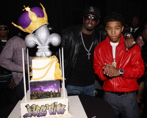 Diddy and Justin Dior Combs