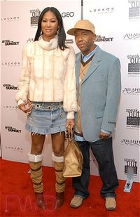 Kimora Lee Simmons and Russell Simmons arrive for the premiere of