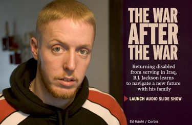 THE WAR AFTER THE WAR: Returning disabled from serving in Iraq, B.J. Jackson learns to navigate a new future with his family
